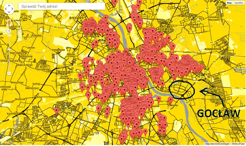 mapa roszczeń