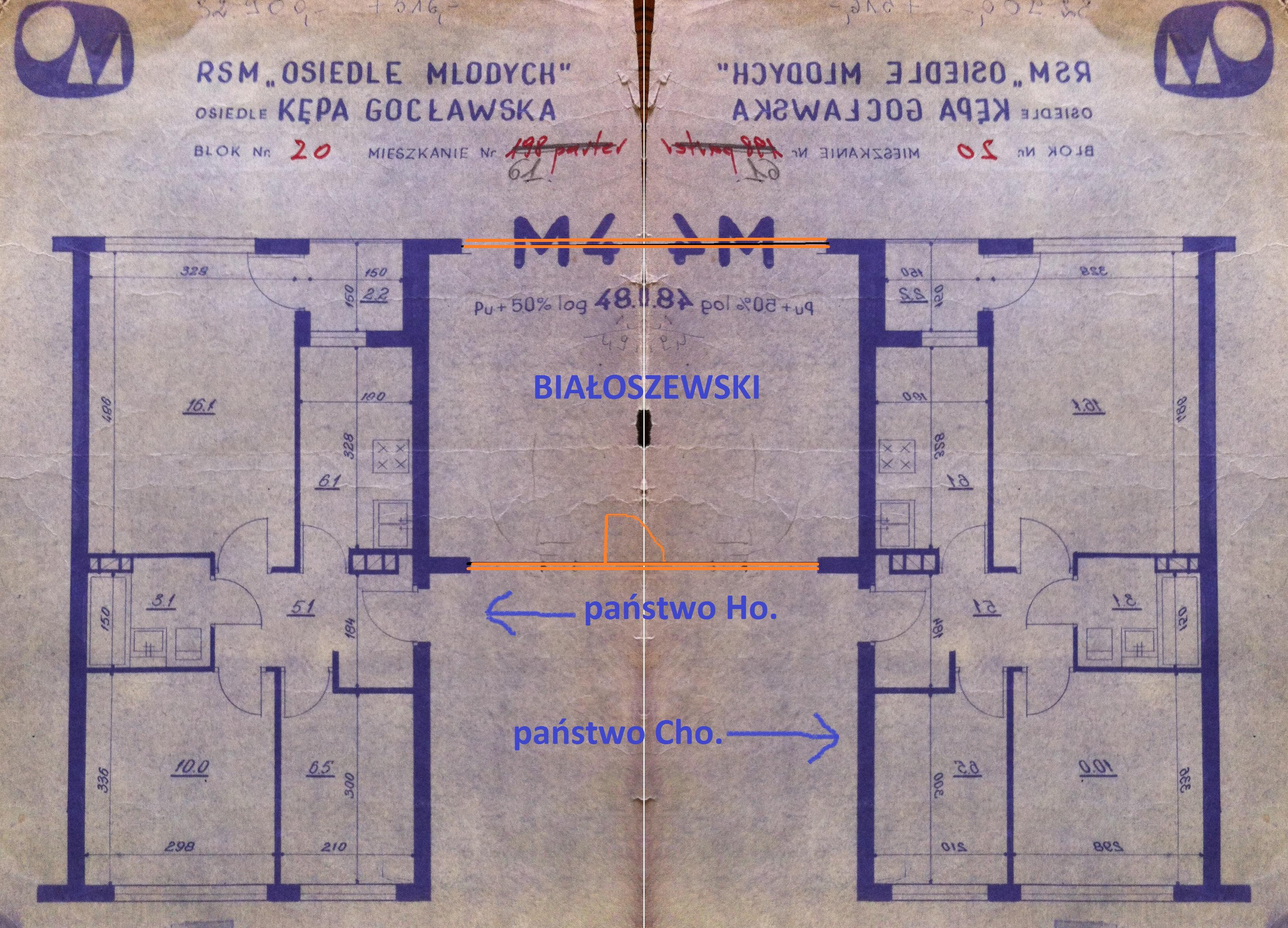 państwo Ho. plan mieszkania